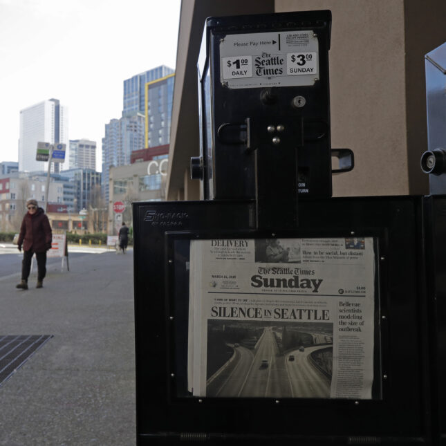 Seattle Times newspaper box