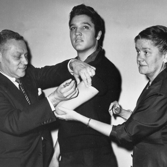 Elvis polio shot