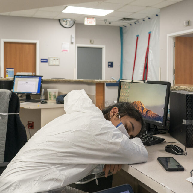 med staff napping demoralized