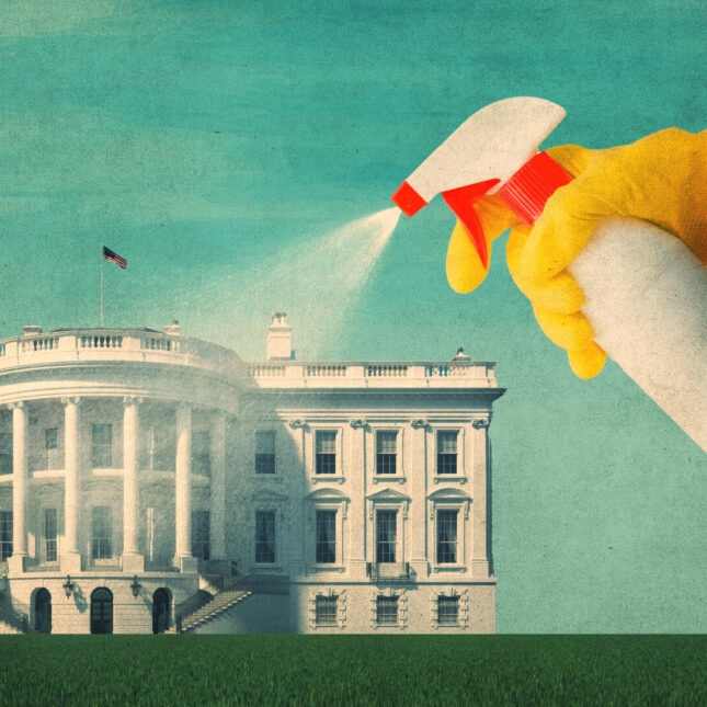 Cleaning the white house
