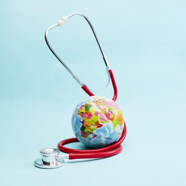 Globe and stethoscope J-1 visa