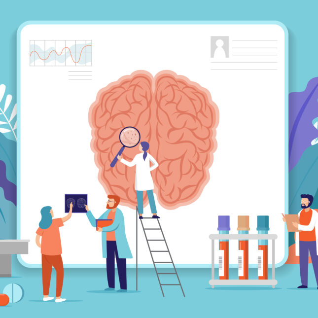 mental health innovation concept illo
