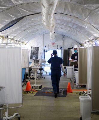 MLK hospital triage tent