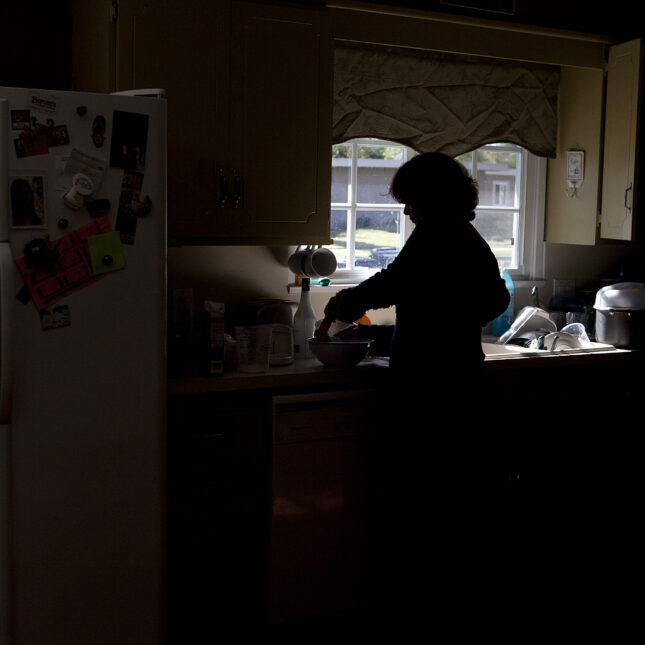 silhouetted caregivers