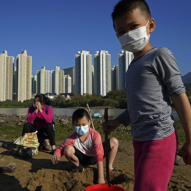 Virus Outbreak Hong Kong - kids