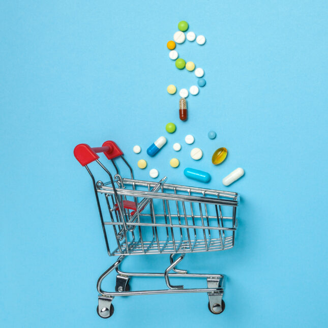 pill shopping cart