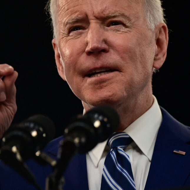 Joe Biden close-up