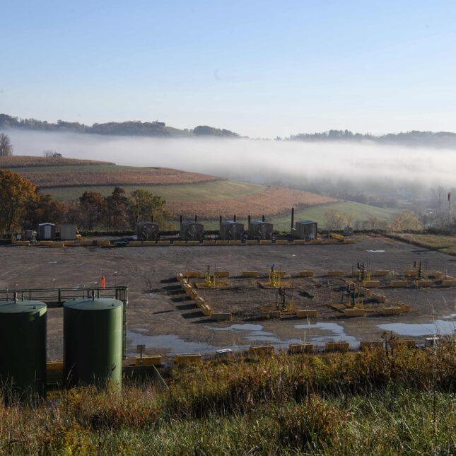 Lusk fracking facility
