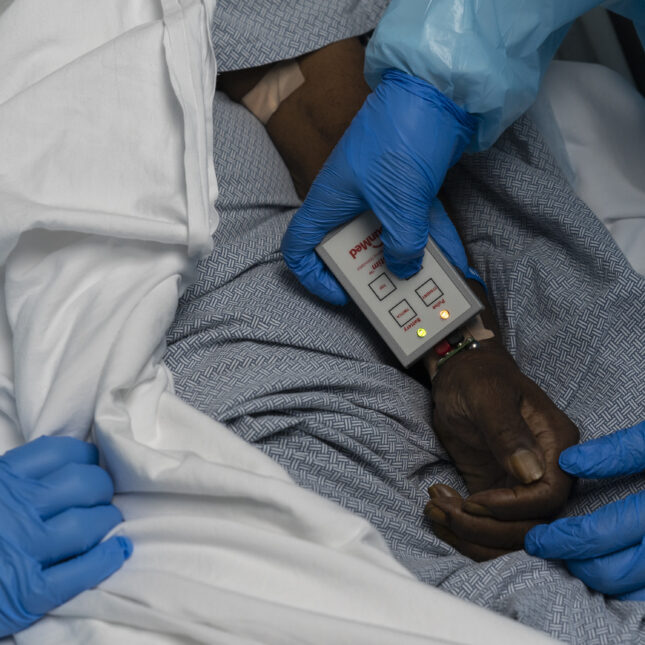 ICU covid hand