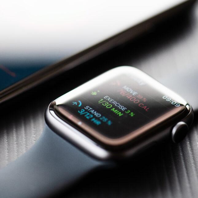 apple watch & phone