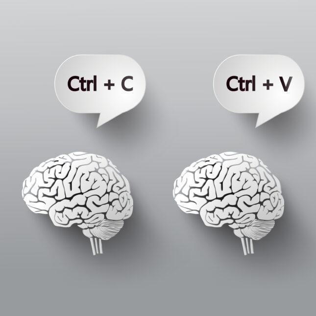 copy paste brain illo