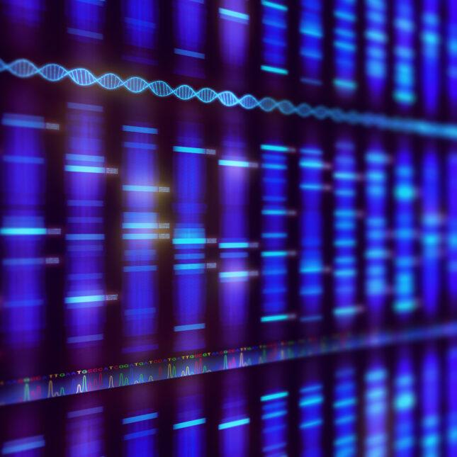DNA sequencing concept illo