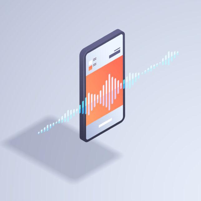 smartphone voice assistant illo