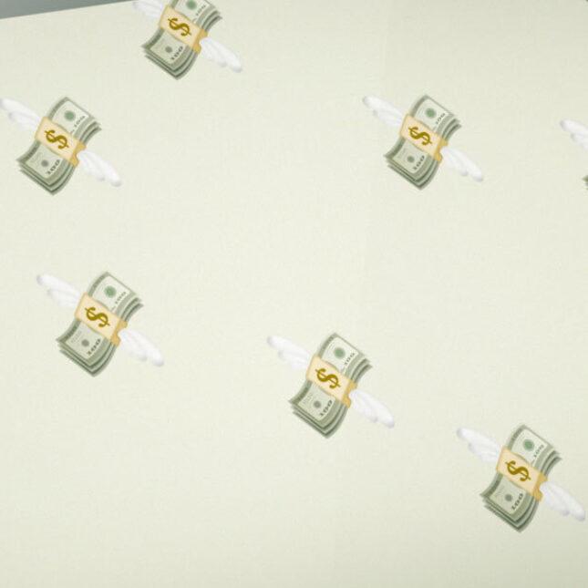 Flying money screensaver