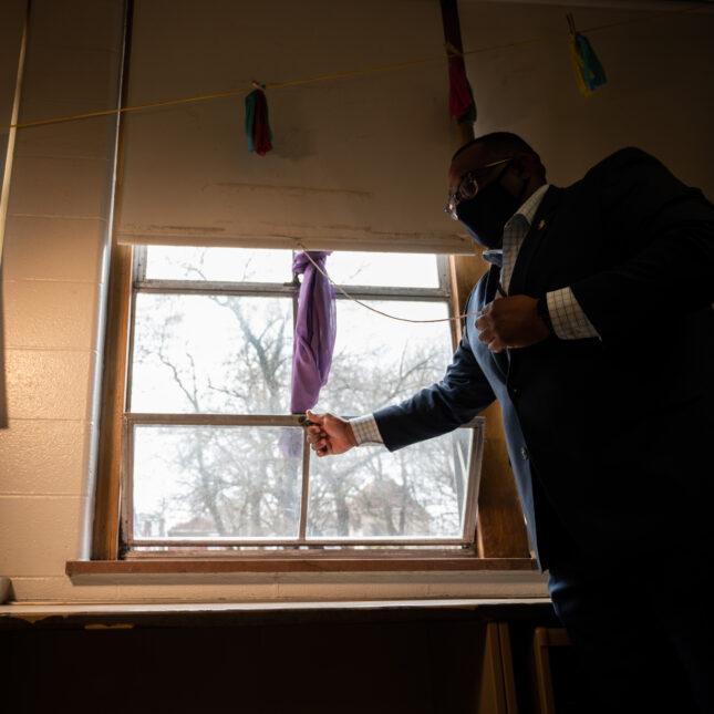 opening classroom window