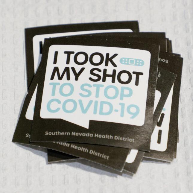 Nevada covid vaccine sticker