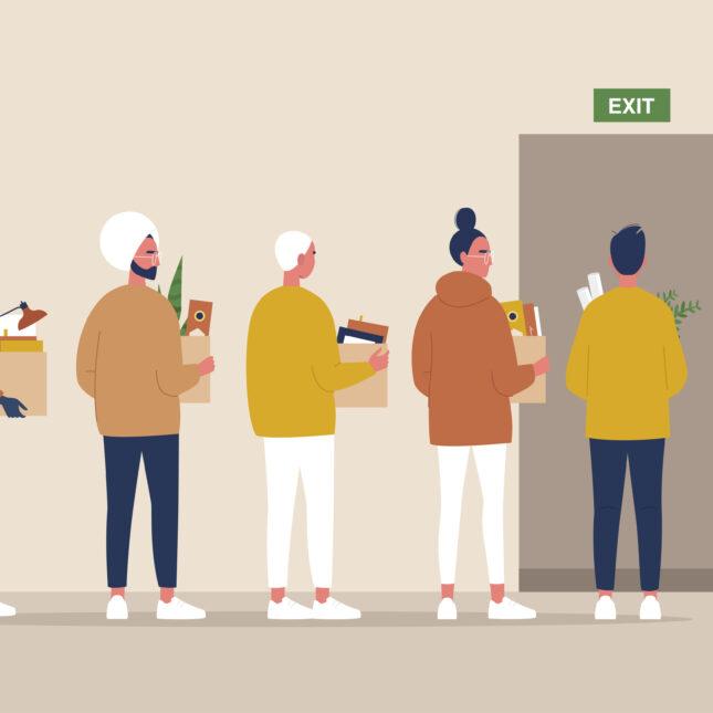 Office exodus