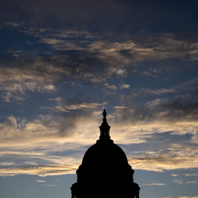 Silhouetted Capitol