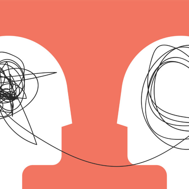 mental health transformation concept illo