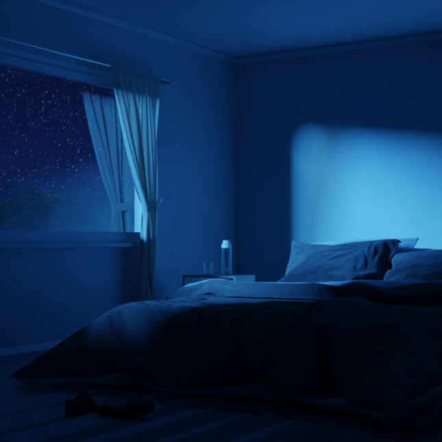 nighttime bedroom