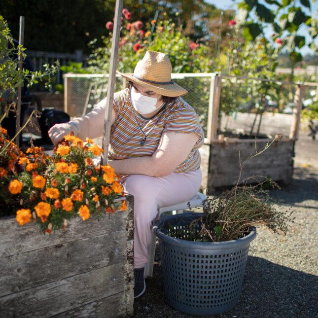Sarah, garden